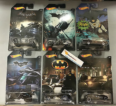 2015 Hot Wheels Batman Series   6 Car Set   Limited Edition   Sale