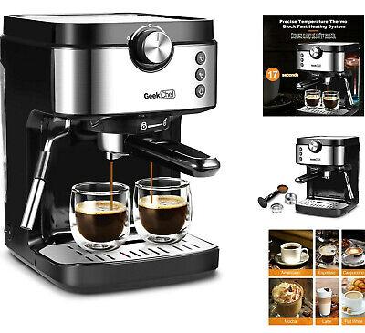 Espresso Machines 20 Bar with Milk Frother Wand Expresso Coffee Machine 1300W