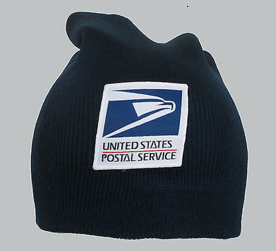 Navy Blue Slouch Hat - USPS Postal Service Navy Blue Long Slouch Beanie Hat/Cap