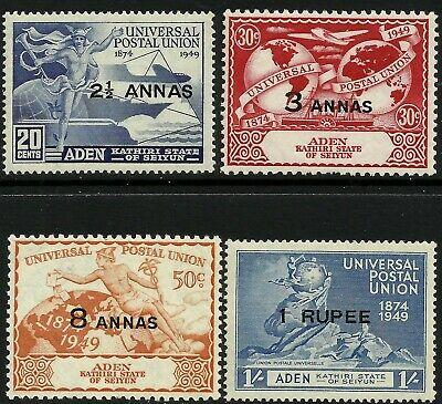 Aden Kathiri State 1949 UPU set Mint Lightly Hinged Fresh Gum