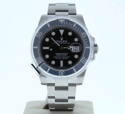 ROLEX MODEL 116610 40MM SUBMARINER DATE WATCH BLACK DIAL & CERAMIC BEZEL UNUSED