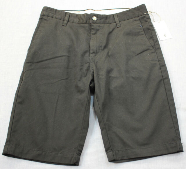 Volcom Logo Corpo Class Mens Black VMONTY Chino Shorts 28 | eBay