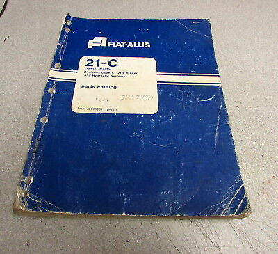 Fiat-allis 21-c Crawler Tractor Parts Catalog Manual 70695061 1975