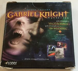 Gabriel Knight Mysteries Limited Edition PC Sierra CD Game
