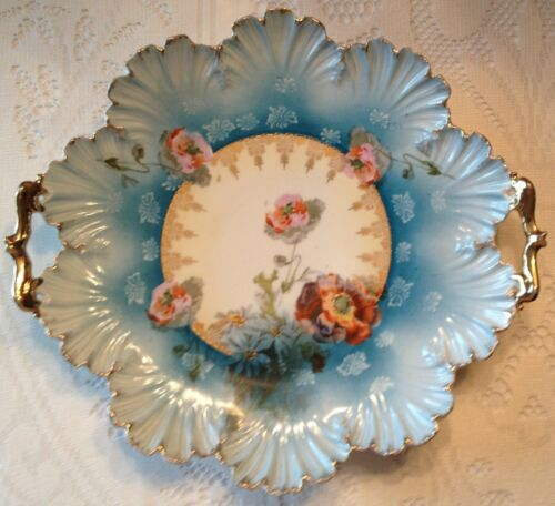 RS Prussia Handled Cakeplate Shell Mold