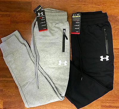 Under Armour UA Joggers Track Pants Slim Fit Grey Black M L XL 2XL