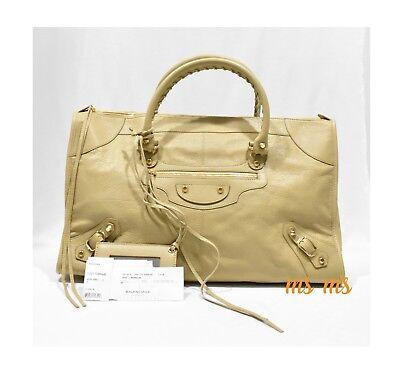 Balenciaga Classic Gold Work Tote Bag beige NWT