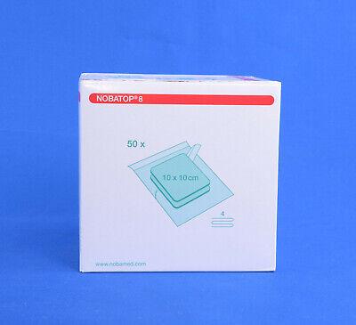 Nobatop 8 100 Vlieskompressen Steril 4-fach 10x10 cm (50x2 St.) PZN 15205914