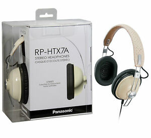Panasonic Lightweight Retro Style Monitor RP-HTX7 AE-C Headband Headphones Cream