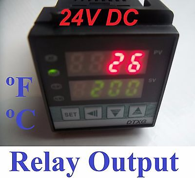 Pid Digital 24 V 24vdc Temperature Controller C F Furnace Kiln Relay Output