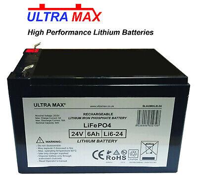 LiFePO4 Litio 24V 6AH Batería Eléctrico Navaja Scooter E300, Bolsillo Mod, mx350