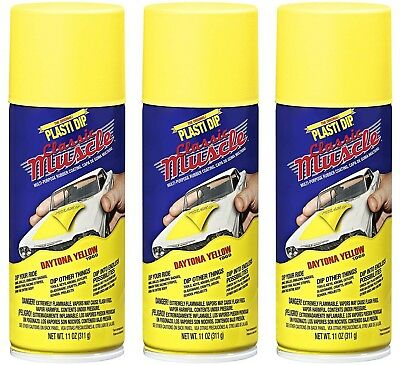 Performix Plasti Dip Daytona Yellow 3 Pack Rubber Coat Spray 11oz Aerosol Cans