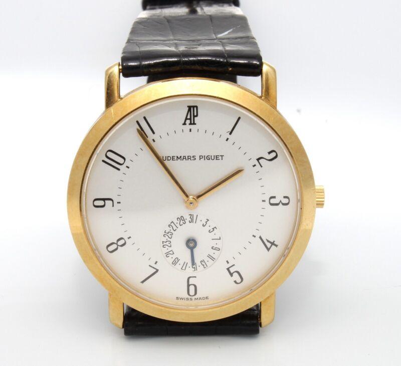 Authentic Estate Audemars Piguet 18k Yellow Gold Mechanical Watch Size 8 41.5 Gr