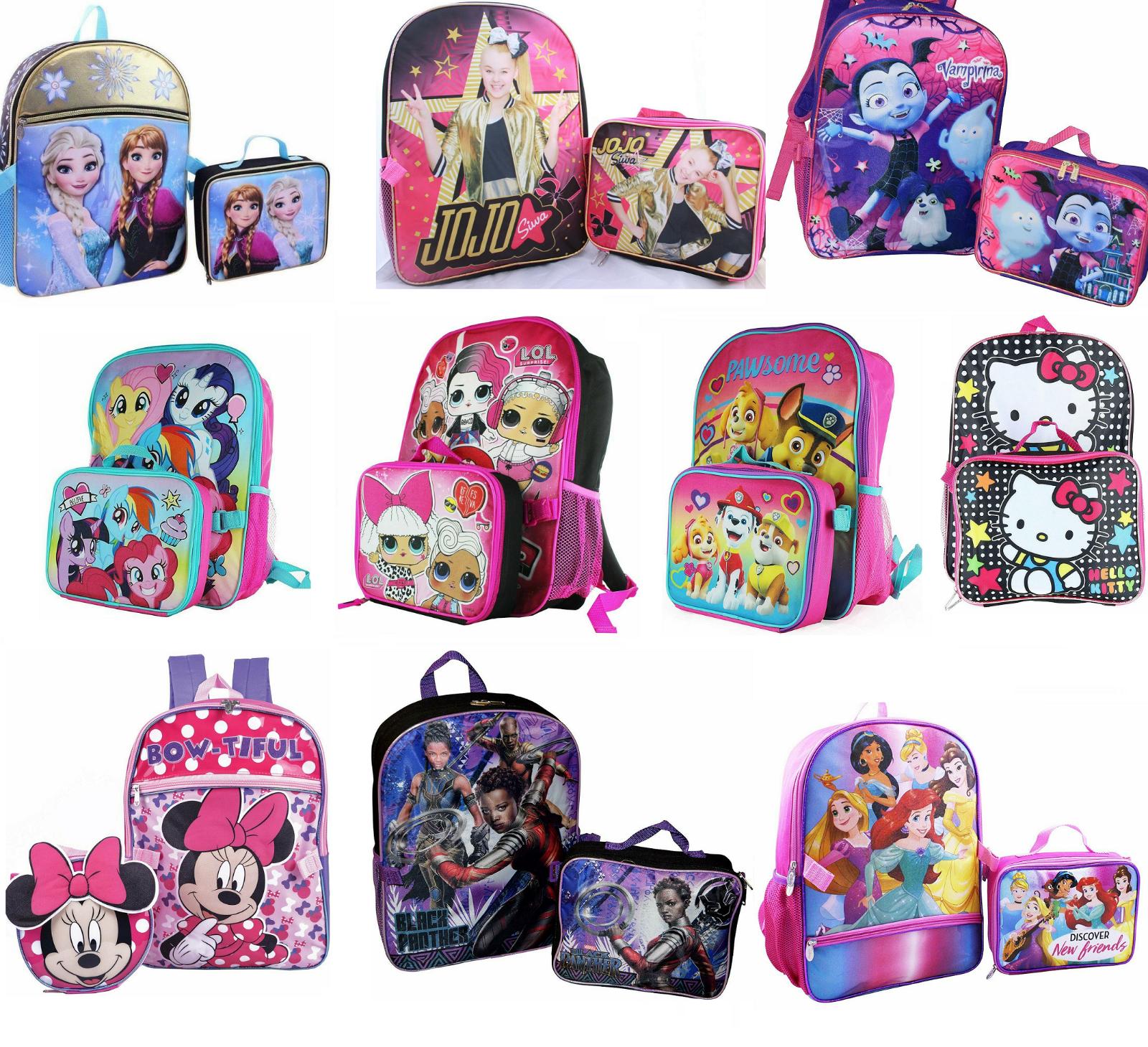 little girls school backpack lunch box set