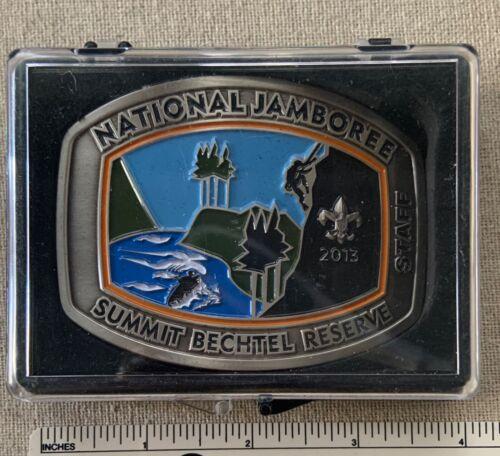 2013 NATIONAL JAMBOREE Boy Scout STAFF BELT BUCKLE Summit Bechtel Reserve Camp