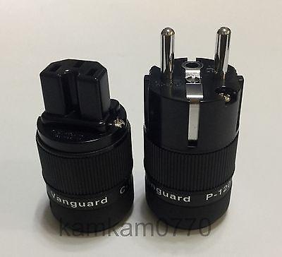 Vanguard For Audio Rhodium Plated IEC + Eu Schuko plug, C-120 + P-120