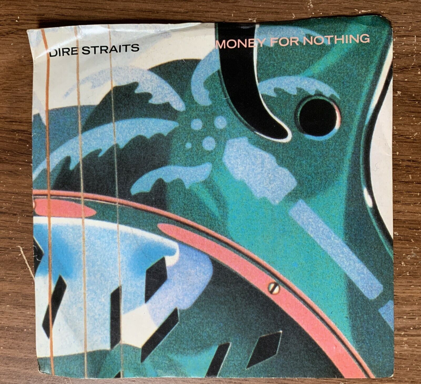 """1985 Dire Straits """"Love Over Gold/Money For Nothing"""" 45 RPM 7"""" Record"""