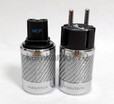 Furutech FI-50 FI-E50 NCF style Nano Copper Rhodium IEC + Schuko plug, No box