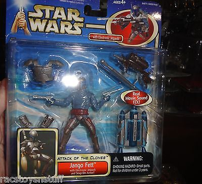 Deluxe Armor Pack - JANGO FETT AOTC DELUXE PACK WITH ELECTRONIC JETPACK AND SNAP ON ARMOR MOC