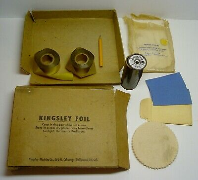 Kingsley Hot Foil Stamping Machine Antique Foil Accessories Advertising Box Lot