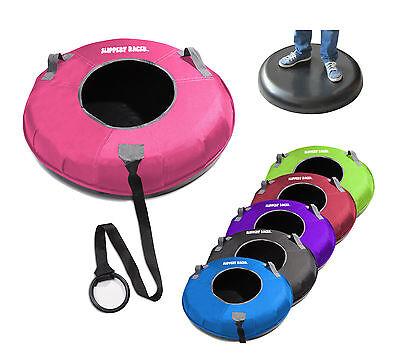 Slippery Racer Hard Bottom XL Snow Tube Inflatable Sled Nylon Cover Set PINK
