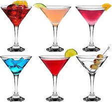 Martini Crystal Cocktail Drinking Party Glasses - Premium Quality - 175ml x6