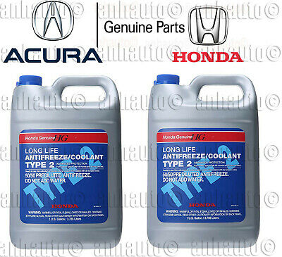 2x Gallons Genuine Honda Acura Long Life Antifreeze / Coolant  (Blue Color)