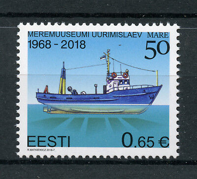 Estonia 2018 MNH Research Vessel Mare 50 Yrs 1v Set Boats Ships Stamps