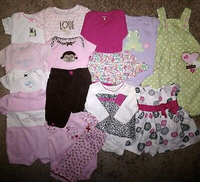 Name Brand Infant Clothing - Lot of 15 Name Brand Infant Girl's Spring-Summer Mix & Match EUC Clothing 3 MOS