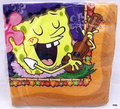 Sponge Bob Beverage Napkins 16 Count Spongebob Luau Birthday Party - Sponge Bob Birthday