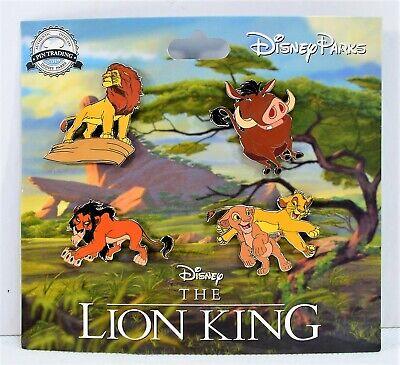 558ff02c4 Disney 2019 Lion King Simba & Nala Scar & Mufasa Pumba Booster 4 Pin Set NEW