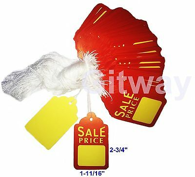 1000 Large Merchandise Sale Price Hang Jewlry Display Tag Tags Hung With String