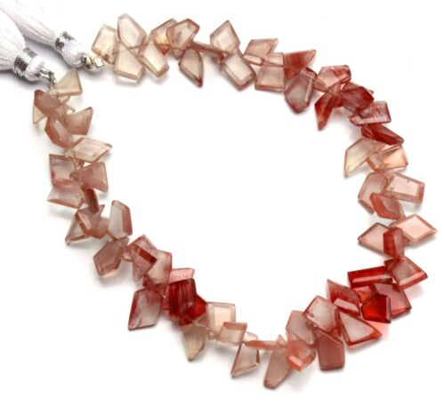 """Natural Gem Andesine Labradorite Faceted Slice Shape Beads 8.5"""" Strand 66Cts."""