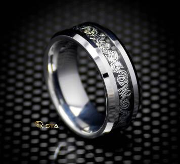 K-sta DRAGON Men's Tungsten Carbide Ring Wedding Band Men's Ring Prestons Liverpool Area Preview