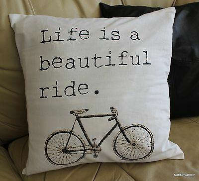 Bike Pillow 20x20 Square Cover Case Accent Decorative