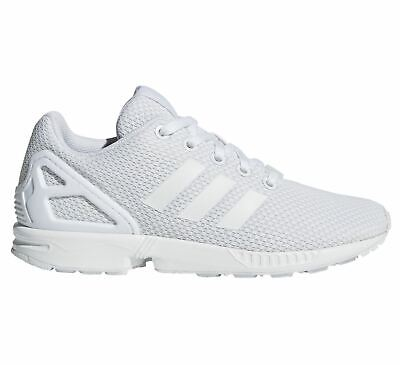 adidas ZX Flux S81421 Juniors Womens Trainers~Originals~UK 3 to 5.5~Triple White