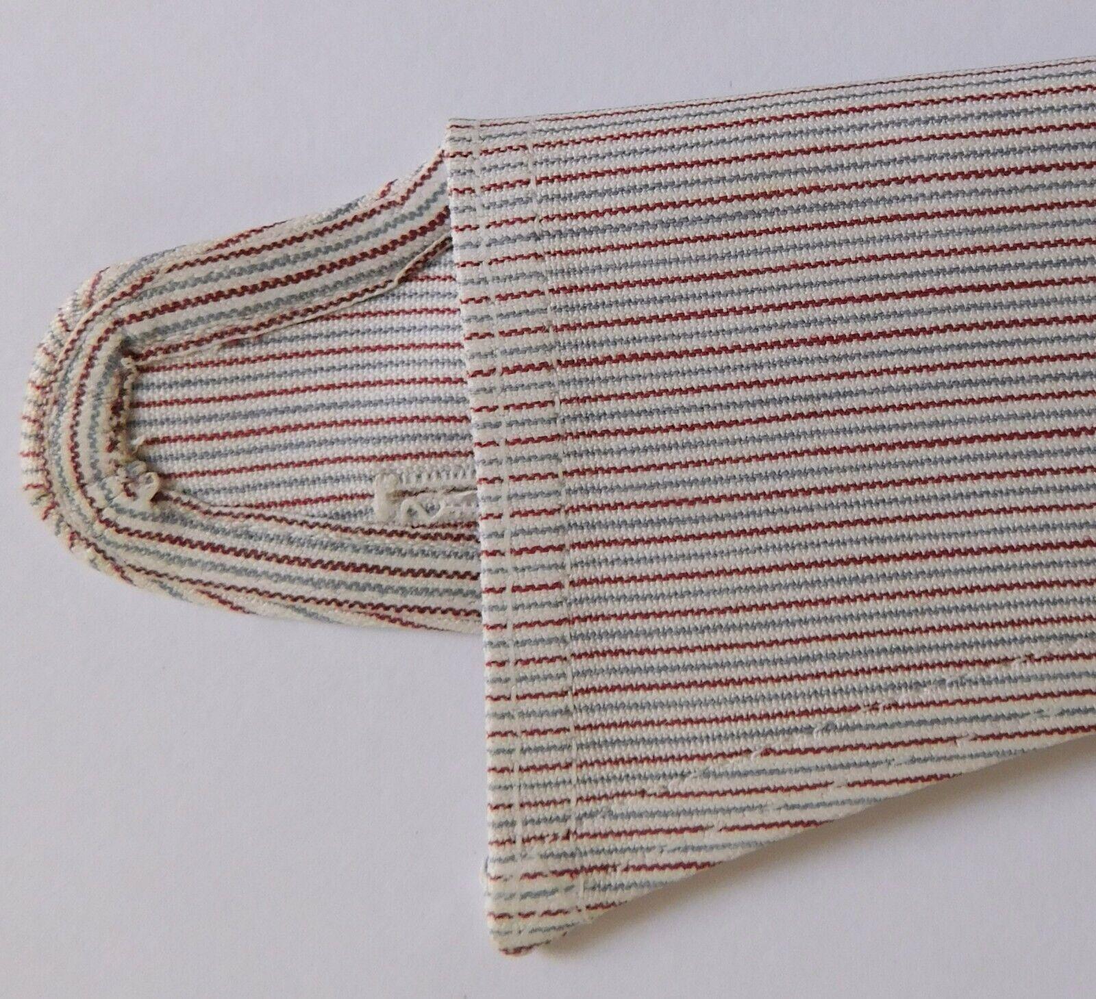 Vintage striped shirt collar size 18 Radiac Rex UNUSED detachable semi-stiff