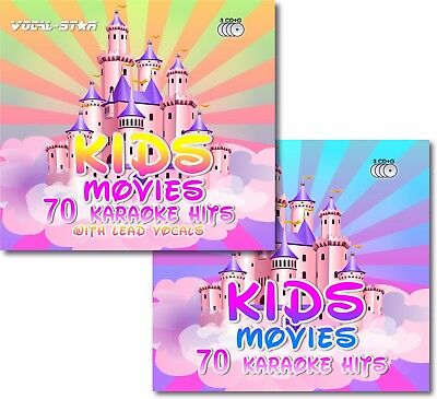 VOCAL-STAR 140 KIDS MOVIES DISNEY CHILDREN DISC SET KARAOKE CDG CD+G 6 DISC SET