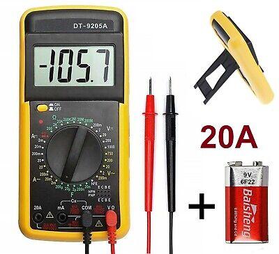 Multimetro Digital Amperimetro Voltimetro Tester Polimetro Medidor 20A amperios