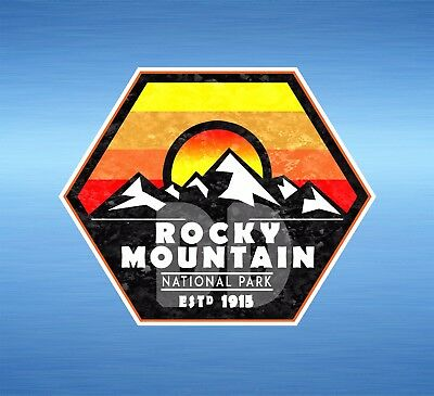 Rocky Mountain National Park Colorado Sticker Mountains Hiking Sticker 3.5 X 2.8 - Rocky Mountains Colorado