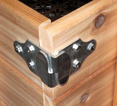 Trailer Wood Sides Latch Rack Stake Body Gates Corner Brackets 1 set 4 pc PK-SB