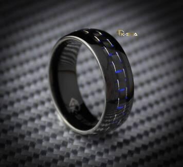 K-sta MASERATI Men's Tungsten Carbide Ring Wedding Band Mens Ring Prestons Liverpool Area Preview