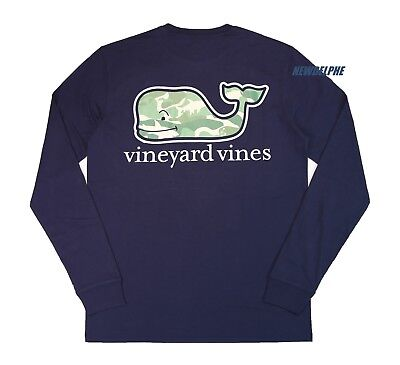 NWT Vineyard Vines Men LS Graphic Pocket Crew Neck Tee T-Shirt