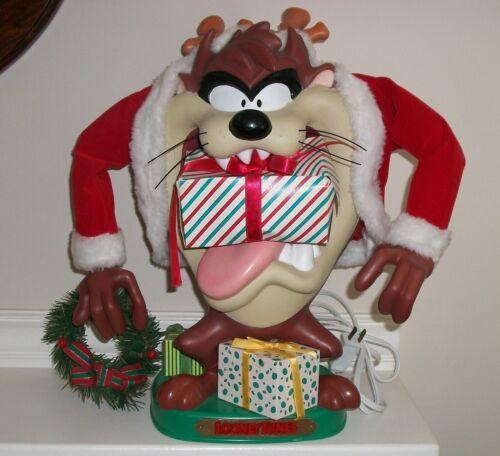 Vintage 1996 TAZ Tasmanian Devil Animated Looney Tunes Christmas Figure