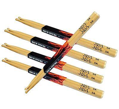 5-Paar Drum Sticks Schlagzeugstöcke,Trommelstöcke,Gr-5A-Holz-Kopf-MSA !n