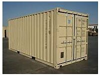 20' SHIPPING CONTAINER SITED IN SUCURE FENCED YARD IN BARRY