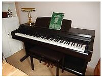 Yamaha Clavinova Digital Electric Piona CLP 840 complete with stool.