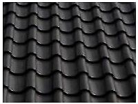 Black clay ceramic Roof tiles