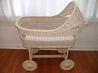 Beautiful Antique baby bassinet