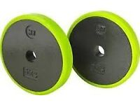 Cast weight plates for dumbell, barbell, home gym BNIB